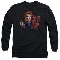 gute kostenlose filme großhandel-Kinderspiel 2 Film Chucky KANN KEINEN GUTE GUY DOWN Langarm T-Shirt S-3XL Männer Frauen Unisex-Mode-T-Shirt Freies Verschiffen