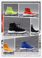 çocuklar örme çorap toptan satış-Balenciaga shoes 2019 Bebek Çocuk Çocuk koşu ayakkabıları Hız çorap Yüksek Sneaker Tess Mesh açık Spor ayakkabı toddler erkek kız Eğitmen streç-örme