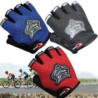 erkekler için yarım parmak eldiven toptan satış-Erkekler Bisiklet Yarım Parmak Eldiven Bisiklet Örgü Eldiven Bisiklet Spor Kısa Eldiven