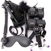 Wholesale bondage whips mask for sale - Women Sexy Lingerie Erotic Sex Toys For Adults Sex Handcuffs Clamps Whip Mouth Gag Sex Mask Couples Bdsm Bondage