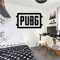 Wholesale game controller sticker resale online - PUBG Vinyl Wall Decals Art Wall Stickers For Kids Boys Room Home Decoration Bedroom Sticker Door Decal Game Controller Logo