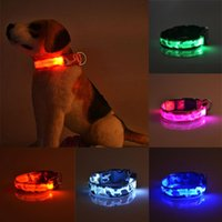Wholesale led dog collar large for sale - Group buy Night Flash Pets Dog LED Collar Adjustable Puppy Collar Dog Collars Necklace Electric Pet Supplies Acessorios