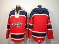 Wholesale old time hockey hoodie blank for sale - Group buy NHL Washington Capitals Old Time Hockey Jerseys Alex Ovechkin Brooks Laich Blank Red Fleece Hoodie Jerseys Embroidery Logo Mix Order