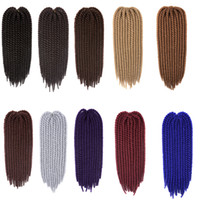 Wholesale ombre braiding hair for sale - Synthetic Braiding Hair Hanava Mambo Twist Braids inch G Crochet Synthetic Hair Extensions Ombre Color In Stock