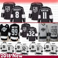 хоккейные трикотажные короли оптовых-Los Angeles Kings 8 Drew Doughty Hockey Jerseys 32 Jonathan Quick 11 Anze Kopitar 99 Уэйн Гретцки Джерси
