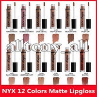 Wholesale nyx lip lingerie new colors for sale - Group buy Hot New Makeup Lips NYX Lip Lingerie Matte Lip Gloss Liquid Matte Lipstick Lip Gloss with Colors