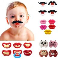 Wholesale tooth pacifiers resale online - Baby Tooth Pacifiers Styles Kids Silicone Funny Mustache Dummy Nipple Teethers Toddler Pacifier Tools OOA6361