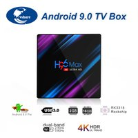 Wholesale tv media streaming resale online - H96 MAX Android Smart TV Box Rockchip RK3318 GB GB H p K Google Play Netflix Youtube Streaming Media Player