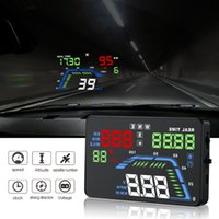Wholesale universal car speedometer for sale - Group buy Universal NEW Q7 quot Multi Color Auto Car HUD GPS Head Up Display Speedometers Overspeed Warning Dashboard Windshield Projector