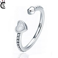 Wholesale women s wedding rings online - 2018 New Copper Pandora Ring Heart S Sterling Silver Ring finger Joint For Women Wedding Jewelry Set Fashion Bride lover Jewelry Sets