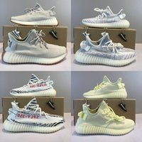Wholesale black gold football boots online - Butter Sply V2 Beluga Frozen Yellow Blue Tint V2 Zebra Cp9652 Bred Men Running Shoes Sport Sneaker With Box