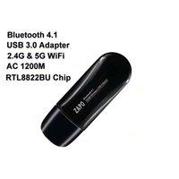 anten kurmak toptan satış-Zapo 5G Masaüstü Laptop için Antenler Ağ Kartı Dahili Bluetooth 4.1 Kablosuz AC USB 3.0 Adaptör 1200Mbps Lan Adaptörü ekle WiFi
