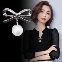 benzersiz broşlar toptan satış-201.910 Basit İğne İnci Broş Unique Luxury Broş iğneler Kadınlar Takı Moda Giyim Aksesuar 2 Renkler M721F