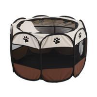 ingrosso cassa morbida dell'animale domestico-Pieghevole Cane Cucciolo Gioco per animali Morbido Box per esercizi Tenda Gabbia Recinzione Cassa Canile