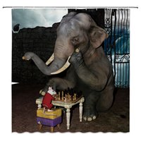 Wholesale funny bathroom decor for sale - Group buy Funny Creative Bathroom Curtain Decor Waterproof Polyester Elephant Tiger Orangutan Shower Curtains cm cm
