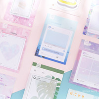 ingrosso scatola note di memo-Cute Dialog Box Memo Pad Lovely Pink Girl Cuore N Times Sticky Notes Foglia Memo Notepad Planner Adesivo Forniture di cancelleria