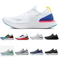 zapatillas de espuma al por mayor-Nike Epic React Flyknit New foam technology lightweight men's and women's Professional running shoes top quality size 36-45