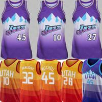 jersey 27 baloncesto al por mayor-NCAA 45 Donovan Mitchell Jersey Universidad Kyle Korver # 10 Mike Conley Kyle Korver 26 Gobert 27 Ricky jerseys del baloncesto