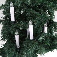 control remoto inalámbrico al por mayor-10pc llevó la luz de la vela con clips en casa fiesta de Navidad árbol de decoración a control remoto sin llama sin cuerda de Navidad velas luz Y19062803