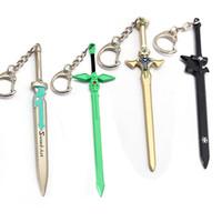legierungsschwertanhänger großhandel-2019 Schwert Art Online Modell Keychain Tung Menschen Asuna Alloy Keyring Schlüsselanhänger Charms Car Pendant Key Buckle Großhandel