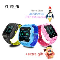 видеоролики оптовых-Дети 4G GPS трекер умные часы водонепроницаемые Видеозвонок WiFi Hotspot GPS LBS WIFI Расположение четырёхъядерный процессор смарт-часы DF39