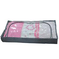 bolsas de almacenamiento de tela zip al por mayor-Organizador del edredón Hogar Extra Grande Almohada de viaje Bolsa de almacenamiento Manta con cremallera Lavandería Duvet portátil Ropa de cama de tela Oxford