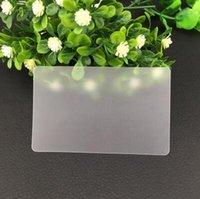 impresión de tarjetas de plástico al por mayor-Venta al por mayor tarjeta de visita de 85.5 * 54mm plástico transparente pvc en blanco tarjeta transparente sin impresión