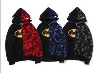 voll dc großhandel-2019 Mens Fashion Designer Jacken Ape Shark Hoodie Mantel Camo Full Zip Jacke Windbreaker DC Jacke Größe M-XXL