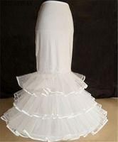 Wholesale brides petticoats resale online - New Long Bride Petticoats White Hoop Layers Formal Dress Underskirt Crinoline Mermaid Corset Wedding
