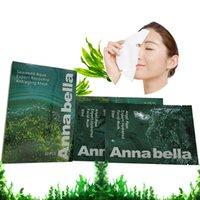 porenschrumpfmaske großhandel-Thailand Annabella Seaweed Brightening Feuchtigkeitsspendende Hautpflege-Ölsteuerungs-Sauerstoff-Gewebe-Gesichtsmaske Shrink Pore Moistuizing Facial Mask