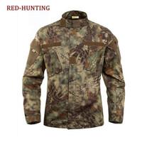 ingrosso pantalone uniforme tattico-Giacca da caccia e pantalone da allenamento BDU da combattimento in stile pitone uniforme mimetica tattica uniforme da combattimento
