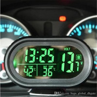 relógios de construção venda por atacado-Car Mini Automobile relógio eletrônico Built-in dupla face adesiva interface de 12-24V poder Universal ajuste de base na venda