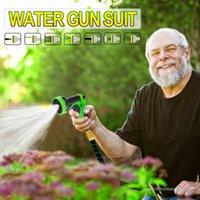Wholesale blue expandable garden hose resale online - 25FT FT Garden Hose Expandable Magic Water Pipe Car Wash Water Gun Set