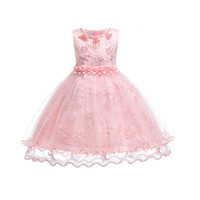 Wholesale costumes europe online - Lace Princess Skirt Children Dress White Gauze Cotton Polyester Europe and America Festival Stage Costume