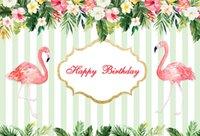 computer-themen großhandel-hin vinyl fotografie kulissen maßgeschneiderte blumen flamingo tropisches thema kinder geburtstagsparty hintergrund fotostudio Dünne viny ...