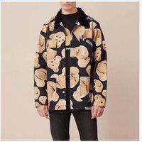 ingrosso giacca invernale a colori-19FW Palm Angels Jacket Broken Bear Stampa abbinata a colori Autunno Inverno Casual Giacche in cotone Uomo Donna Cappotto da strada Outwear HFYMJK237