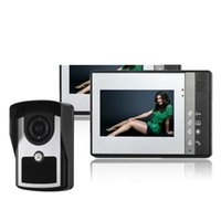 Wholesale ccd color video for sale - Group buy 7 inch TFT color LCD ultra thin infrared night vision function doorbell Rainproof outdoor video intercom CCD lens high definition