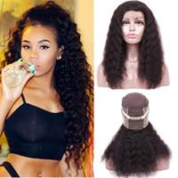 kıvırcık bakire dantel perukları toptan satış-360 Tam Dantel İnsan Saç Peruk Tam Dantel İnsan Saç Peruk Brezilyalı Derin Dalga Kıvırcık Virgin İnsan Peruk Remy
