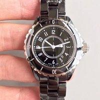 relógios de senhora venda por atacado-Lady Branco / Preto Cerâmica Relógios quartzo de alta qualidade moda requintada Mulheres Relógios de pulso