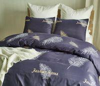 ingrosso set di jilt floreali blu-Set copripiumino Lucky Floral King Printed Pattern Set copripiumino in microfibra Set comodo e traspirante Set lenzuola morbide Blu Navy