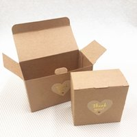 Wholesale paper cases dessert resale online - 50Pcs Handmade Kraft Paper Cardboard Boxes Cases For Wedding Birthday Party Cake Dessert Packaging Storage Container Boxes