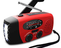 Wholesale radio dynamo for sale - Group buy AM FM WB Solar Radio light Emergency Solar Hand Crank Power LED Flashlight Electric Torch Dynamo Bright Lighting Lamp ZZA392