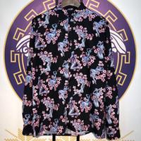 Wholesale casual men s shirts flowers online - 2019 Best Quality D Designer Flowers Printed Women Men Casual Shirts Men Fashion Streetwear Long Sleeve Cotton Shirt