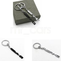 mercedes benz için anahtar toptan satış-Anahtar Tutucu Oto Araç Şekillendirme Araba Anahtarlık Anahtarlık Mercedes Benz A45 AMG SLS E63 GGA521 için AMG Rozet Araba amblemler