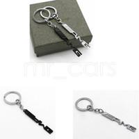 Wholesale car key ring holder resale online - Key Holder Auto Car Styling Car Key Ring Key Chain AMG Badge Car Emblems For Mercedes Benz A45 SLS AMG E63 GGA521