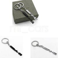 emblemas de la insignia clave al por mayor-Titular de la clave Key Ring Auto Car Styling Car Llavero AMG insignia emblemas del coche para Mercedes Benz SLS AMG A45 E63 GGA521