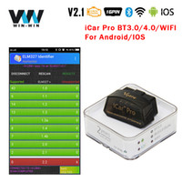 Wholesale obd tool android resale online - Vgate iCar Pro Bluetooth wifi For Android Auto Code Reader ELM V2 ELM327 OBD OBD2 Diagnostic Scanner Tool