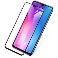 película azul hd al por mayor-Xiaomi Mi 9 Anti Blue Light Protector de pantalla de película Cobertura total Cristal templado de primera calidad 9H Dureza HD Cristal de frente transparente Anti huella digital