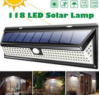 Wholesale solar 12v led street lights resale online - Waterproof PIR Motion Sensor Solar Garden Light Outdoor LED Solar Lamp Modes Security Pool Door Solar Lighting