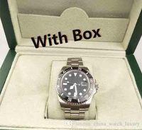 ingrosso orologi automatici di qualità del mens-Orologi da uomo di lusso di qualità in ceramica lunetta 116610 uomini cinturino in acciaio inossidabile automatico orologio meccanico 2813 orologio da polso zaffiro
